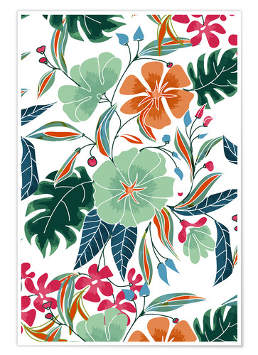 Póster Minty Rust Floral