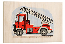Madera  Hugos fire department cart - Hugos Illustrations