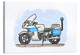 Lienzo  Hugos police motorcycle - Hugos Illustrations