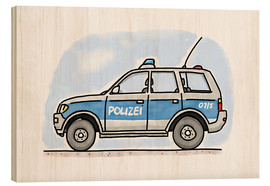 Madera  Hugos police car - Hugos Illustrations