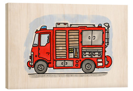 Madera  Hugos fire department emergency vehicle - Hugos Illustrations