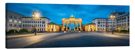 Lienzo  The Brandenburg Gate at night, Berlin, Germany - Jan Christopher Becke