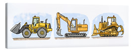 Lienzo  Hugos construction site 3-piece set - Hugos Illustrations