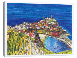 Lienzo  View to Vernazza - Hartmut Buse