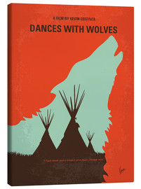 Lienzo  No949 My Dances with Wolves minimal movie poster - chungkong