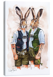 Lienzo  GAY RABBITS - Peter Guest