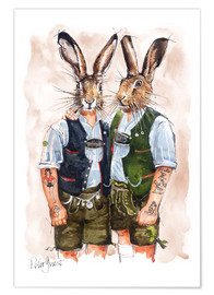 Póster  GAY RABBITS - Peter Guest