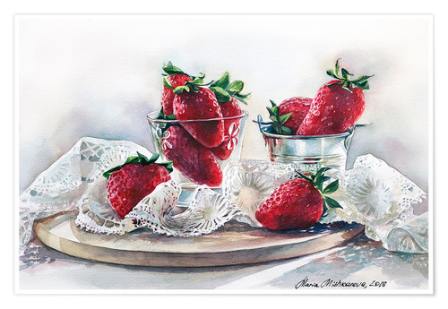 Póster Strawberries and lace