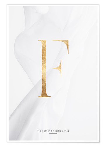 Póster GOLD LETTER COLLECTION F