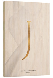 Cuadro de madera  GOLD LETTER COLLECTION J - Stephanie Wünsche