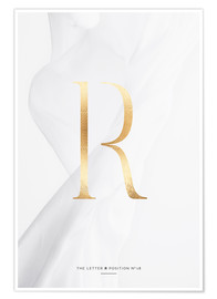 Póster GOLD LETTER COLLECTION R