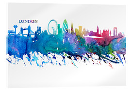 Cuadro de metacrilato  Skyline LONDON Colorful Silhouette - M. Bleichner