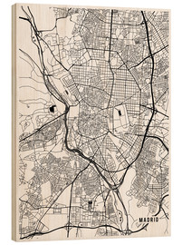 Madera  Mapa de madrid - Main Street Maps