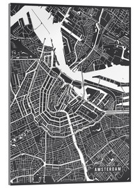 Cuadro de metacrilato  Amsterdam Netherlands Map - Main Street Maps