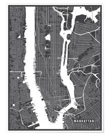 Póster New York USA Map