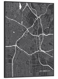 Cuadro de aluminio  Los Angeles USA Map - Main Street Maps