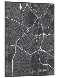 Cuadro de PVC  Los Angeles USA Map - Main Street Maps