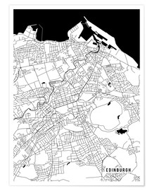 Póster  Edinburgh Scotland Map - Main Street Maps