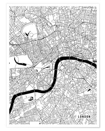 Póster London England Map