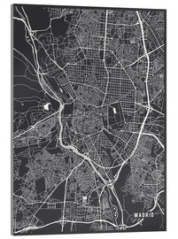 Metacrilato  Mapa de madrid - Main Street Maps