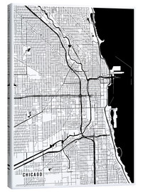 Lienzo  Chicago USA Map - Main Street Maps