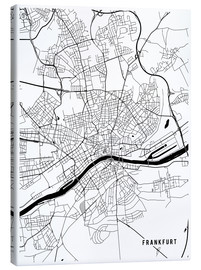 Lienzo  Frankfurt Germany Map - Main Street Maps