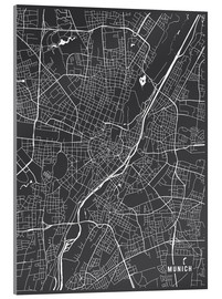 Cuadro de metacrilato  Munich Germany Map - Main Street Maps