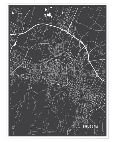 Póster Bologna Italy Map