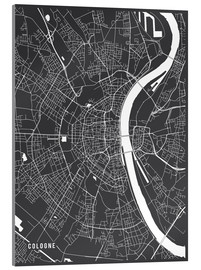 Metacrilato  Cologne Germany Map - Main Street Maps