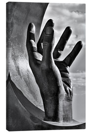 Lienzo  Gripping hand in black and white - Jörg Gamroth