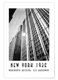 Póster Historic New York - Woolworth Building, 233 Broadway, Manhattan