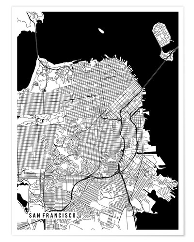 Póster San Francisco USA Map