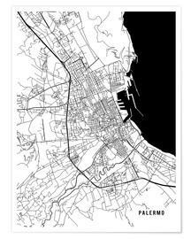 Póster Palermo Italy Map