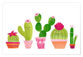 Póster  Cactuses in the pot - Sandy Thißen