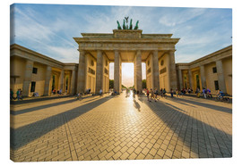 Lienzo  Germany, Berlin, Brandenburger Tor and Pariser Platz at backlight - Westend61