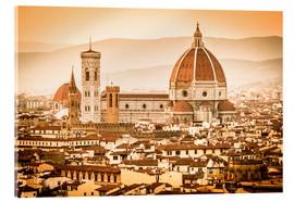 Cuadro de metacrilato  Cityscape with Cathedral and Brunelleschi Dome, Florence - Cubo Images