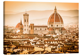 Lienzo  Cityscape with Cathedral and Brunelleschi Dome, Florence - Cubo Images