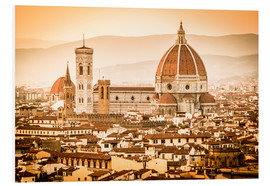 Cuadro de PVC  Cityscape with Cathedral and Brunelleschi Dome, Florence - Cubo Images