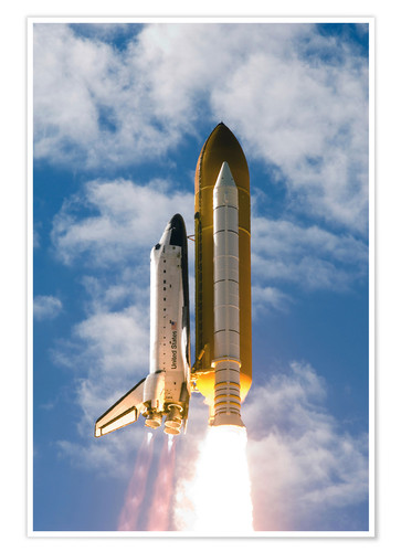 Póster Space Shuttle Atlantis