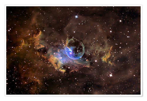 Póster Bubble nebula