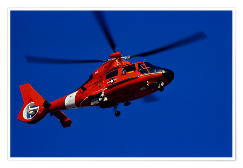 Póster Coast Guard helicopter