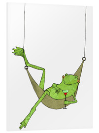 Forex  Frog lying in hammock with drink glass