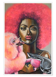 Póster Pink Afro