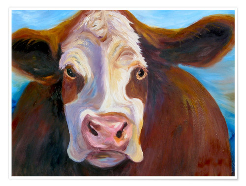 Póster Portrait of cow