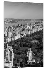 Cuadro de aluminio  USA, New York, New York City, elevated view of the Upper West Side of Manhattan and Central Park fro - Walter Bibikow