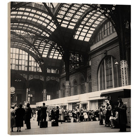 Cuadro de madera  Penn Station, NYC, 1954 - Science Source