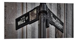 Cuadro de PVC  NYC Wall Street And Broadway Sign-New York City's Broadway Canyon of Heroes and Wall Street Sign. - age fotostock