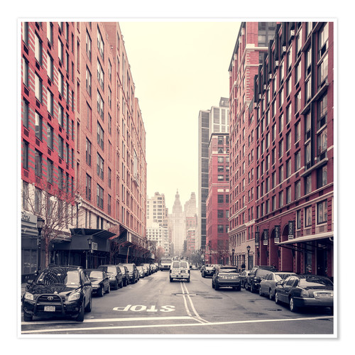 Póster Stadtansicht, Manhattan, New York City, New York, USA, Nordamerika