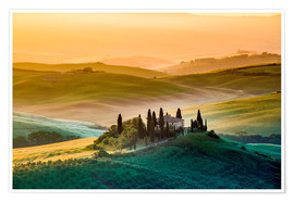 Póster Val d'Orcia, Tuscany, Italy