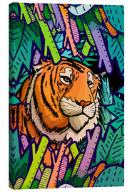 Lienzo  Tiger in the undergrowth - Stephen Wade